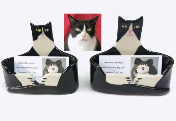 Custom Cat card holder