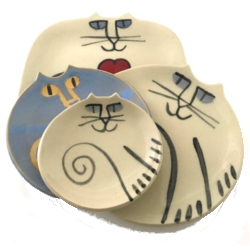 Cat Pottery Collection