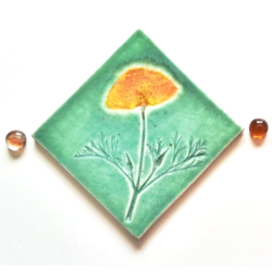 California Poppy Tile